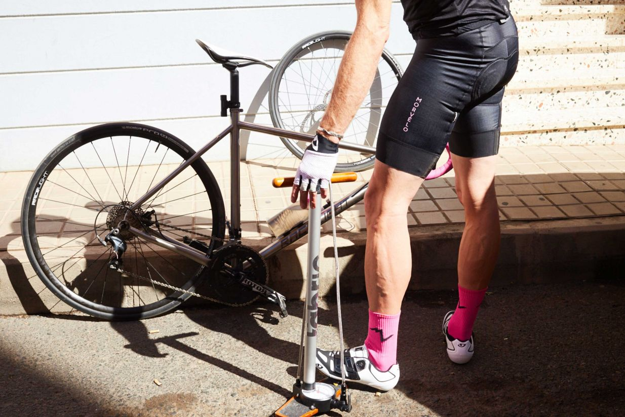 Road New! MTB Fabric Stratosphere Pro Bicycle Floor Pump